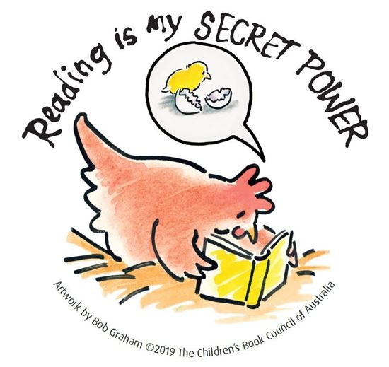 Picture of z CBCA Book Week Wall Graphic - small Hen design
